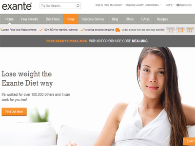 Exante Diet offers